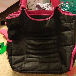 Thirty one black and pink bag